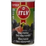 olive Itlv black pitted 370ml can