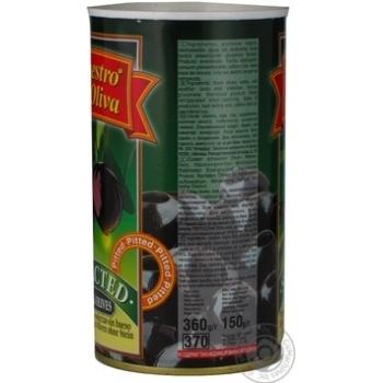 Маслини Маестро де Оліва чорні без кісточки 360г - купить, цены на МегаМаркет - фото 3