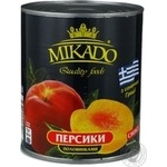 Peach halves Mikado in syrup 825g Greece