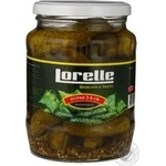 Vegetables cucumber Lorelly whole 720ml glass jar India