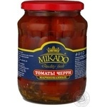 Vegetables tomato cherry tomatoes Mikado pickled 680g glass jar Germany
