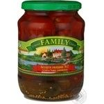 Vegetables tomato cherry tomatoes Family canned 680g glass jar Ukraine