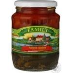 Vegetables tomato Family canned 720ml glass jar Ukraine