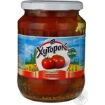 Vegetables tomato Khutorok pickled 680g glass jar