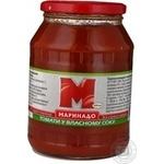 Vegetables tomato Marinado uncleaned 920ml glass jar Ukraine