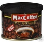 Natural instant coffee Maccoffee Classic 50g India