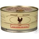 Мясо Домашний гостинец курица консервированная 325г железная банка Украина
