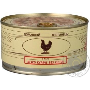 М'ясо курки у власному соці Домашній гостинець 325г