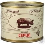 Meat Domashny gostynets pork canned 525g can Ukraine