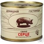 Сердце Домашний гостинец свинина консервированная 525г железная банка Украина