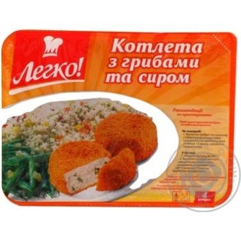 Cutlet Legko chicken with cheese precooked 430g Ukraine