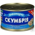 Fish atlantic mackerel Akvamaryn with addition of butter 240g can Ukraine