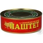 Pate Opk with pork liver 240g can Ukraine