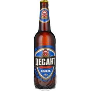 Пиво Десант светлое 4.2%об. стеклянная бутылка 500мл Украина