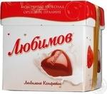 Цукерки в молочному шоколаді з горіховим праліне Любімов 208г