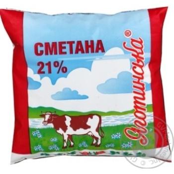 Сметана Яготинська 21% 400г - купити, ціни на Фуршет - фото 2