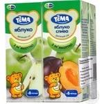 Juice Tema fruit for children from 6 months 4pcs 200ml tetra pak Ukraine