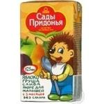 Пюре Сады Придонья Яблоко-Груша-Слива без сахара для детей с 5 месяцев тетрапакет 125мл Россия
