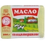 Масло Квітень Бутербродне солодковершкове 72.4% 200г Україна