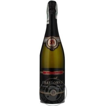 Sparkling wine chardonnay Zolotaia balka white 12.5% 750ml glass bottle Ukraine