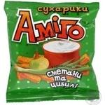 Сухарики житньо-пшеничні з Сметаною та зеленню Аміго 40г