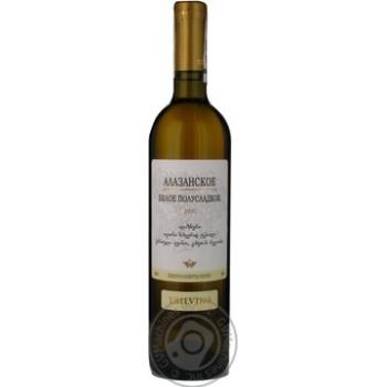 Вино Тбілвино Алазанська долина біле н/солодке 0,75л х3