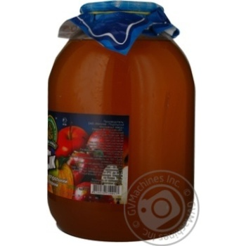 Natural unclarified first grade prepackaged by hot filling juice Dary laniv apples glass jar 3000ml Ukraine - buy, prices for MegaMarket - image 2