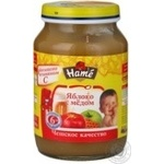 Puree Hame with apple for children 190g glass jar Czech republic