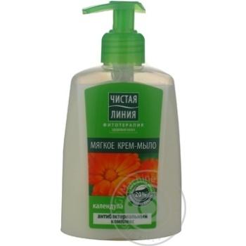 Soap-cream Chistaya liniya Phytotherapy healthy skin with calendula liquid 250ml