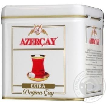 Black pekoe tea Azercay Extra medium leaf with bergamot flavor 100g can Azerbaijan