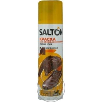 Фарба для гладкої шкіри Salton коричнева аерозоль 250мл