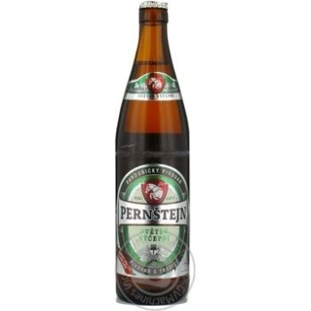 Пиво світле Pernstejn Vilem Svetly Lezak 4,7% 0,5л скл/пл