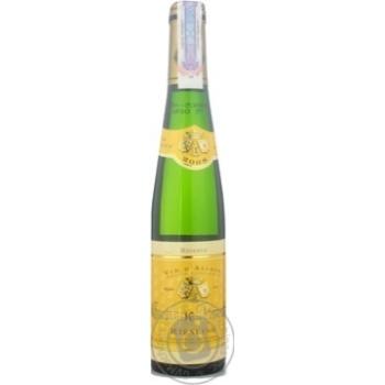 Вино рислинг Густав лоренц белое сухое 13.5% 2008год 375мл стеклянная бутылка Эльзас Франция