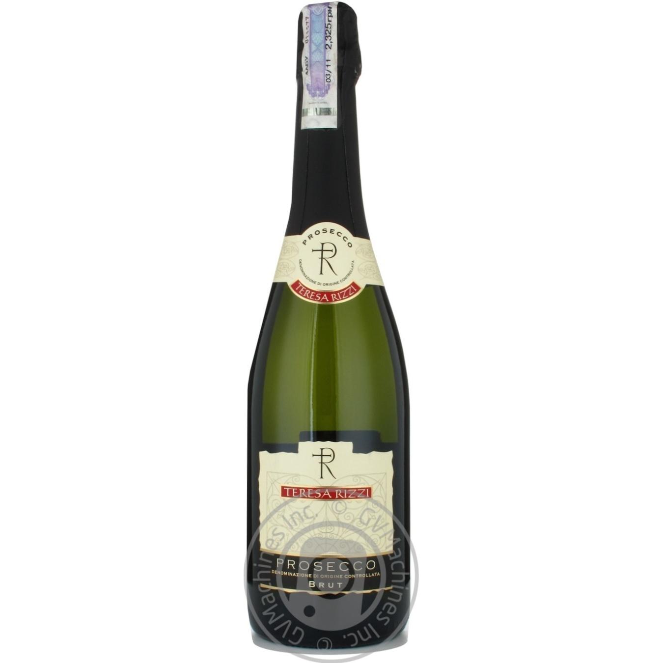 Купить 499676, Вино игристое Teresa Rizzi Prosecco Brut белое сухое 11% 0, 75л