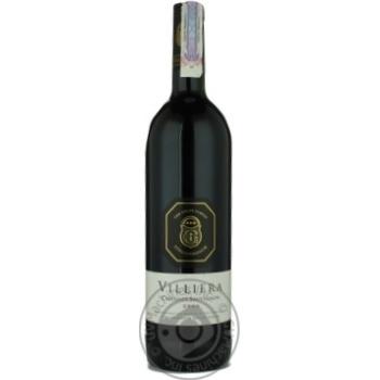 Вино каберне-саперави Виллиера красное сухие 13.5% 2006год 750мл стеклянная бутылка Стелленбош Юар
