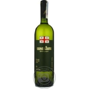 Вино цинандали Винный клуб белое сухие 15% 2005год 750мл стеклянная бутылка Грузия