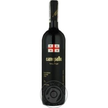 Вино саперави Винный клуб красное сухие 12.5% 2006год 750мл стеклянная бутылка Грузия