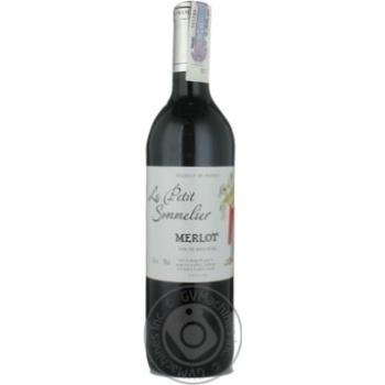Вино Le Petit Sommelier Merlot красное сухое 13% 0,75л