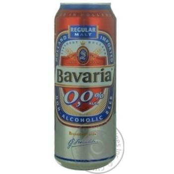 Пиво Бавария светлое безалкогольное железная банка 500мл Нидерланды