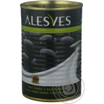 оливка Эльсев черное с косточкой 390г железная банка Испания