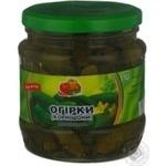 Овочі огірки Дар маринована 480мл скляна банка Україна