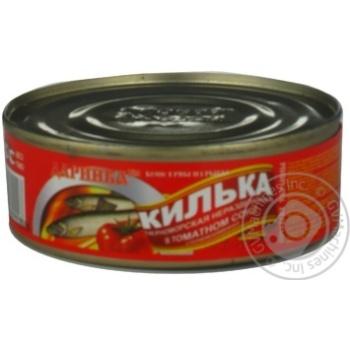 Кілька чорноморська у томатному соусі №3 Даринка 240г
