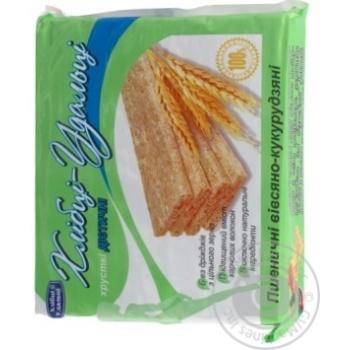 Crispbread Hlebtsy-udal'tsy wheat-oats-corn for diabetics 100g packaged - buy, prices for Furshet - image 3
