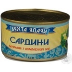 Fish sardines Buhta udachi with addition of butter 240g can Ukraine