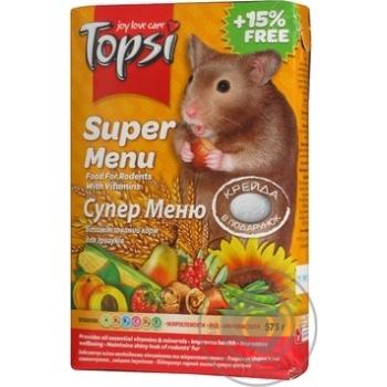 Корм Topsi для грызунов Супер меню 575г - купить, цены на Novus - фото 5