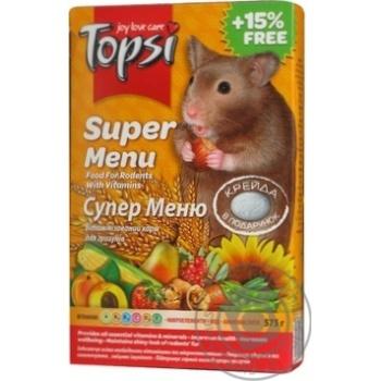 Корм Topsi для грызунов Супер меню 575г - купить, цены на Novus - фото 2