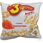 Сухари Три корочки пшеничный красная икра 100г Украина