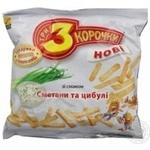 Сухари Три корочки со вкусом сметаны 100г Украина