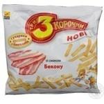 Сухари Три корочки пшеничная с беконом 100г Украина
