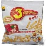 Сухари Три корочки пшеничный с хреном 40г Украина